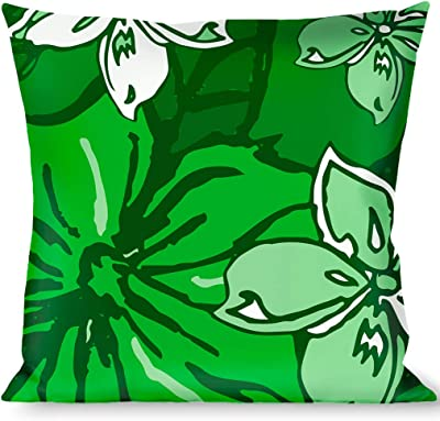 Buckle Down Palm Leaves Stacked Pastel Greens Throw Pillow Multicolor