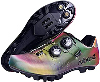 OneChange MTB Cycling Shoes Men Women Breathable MTB Bike Shoes Anti-Skid Lock Spinning Shoe for Cycling Road Biking (Color : Multicolor, Size : 5.5 UK)
