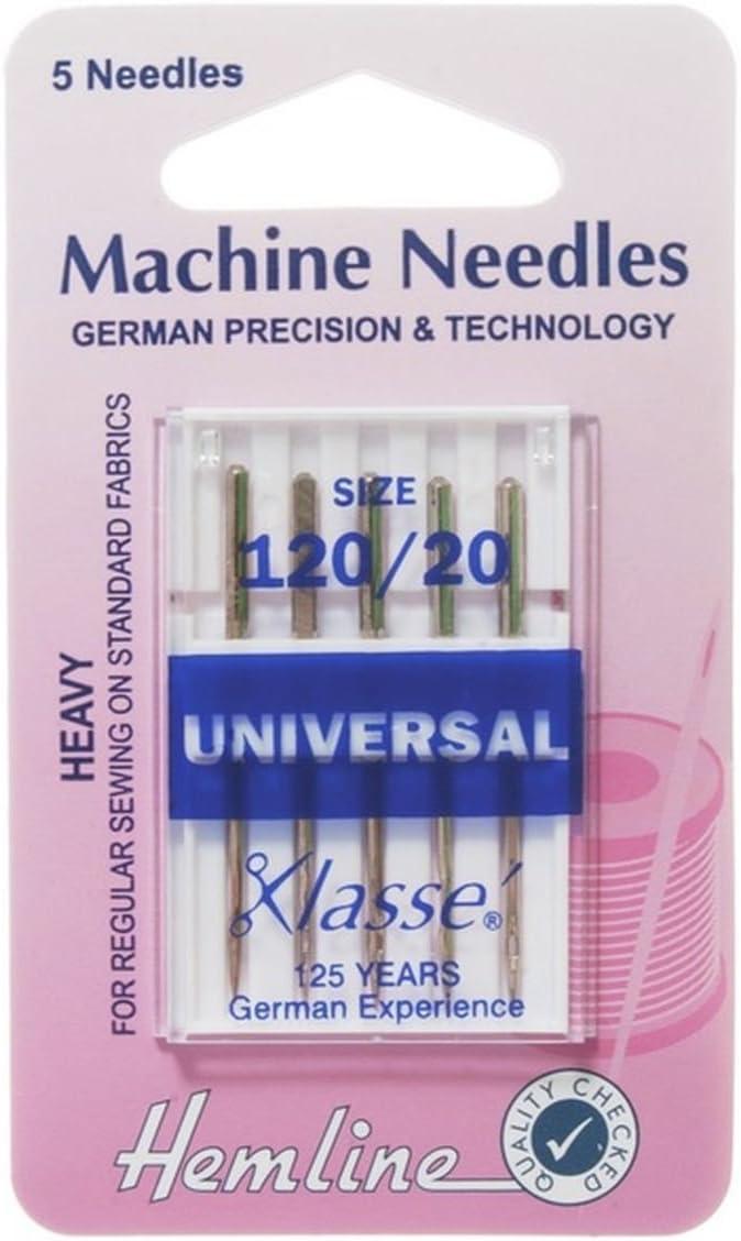 Hemline H100.120 Hvy Universal Machine Max Super-cheap 75% OFF Needle Slight Ballpoint