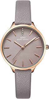 IBSO Female Watches Leather Strap Round Case Analog Fashion Women Watch on Sale