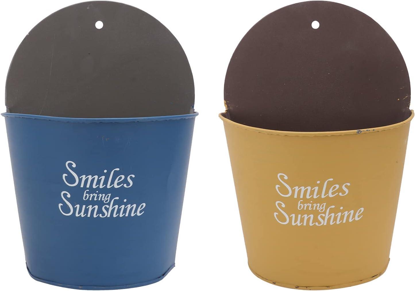 Happyyami 2Pcs Delicate Fashionable Flower Flo Iron Vintage Pots 25% OFF specialty shop