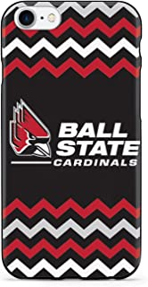 Inspired Cases - 3D Textured iPhone 8 Case - Protective Phone Cover - Rubber Bumper Cover - Case for Apple iPhone 8 - Ball State Cardinals - Chevron Case