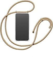 KNOK case Phone Necklace Holder case | Mobile Cover with Cord Strap Compatible with iPhone 7 Plus/iPhone 8 Plus - Phone Collar Lanyard case | Mobile Phone Collar case (iPhone 7/8 Plus, Gold)