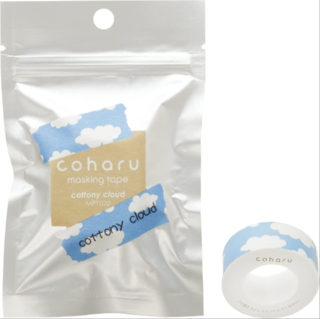 COHARU Thermal Paper Quality inspection unisex Masking Cottony Tape Cloud