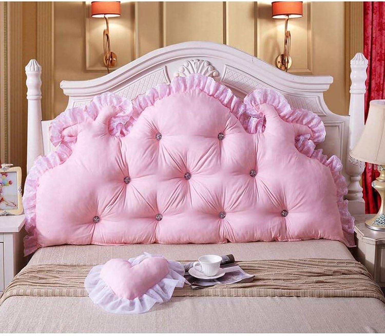 WXFO Coton perlé tête de lit de Princesse Grand Sac à Dos Souple Double Oreiller Long Coussin Quatre Saisons Grand Coussin (Couleur   A, Taille   150cm)