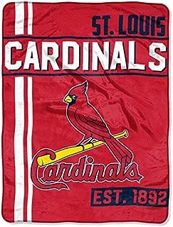 The Northwest Company 1 Pc, St. Louis Cardinals Blanket 46x60 Raschel Triple Play Design