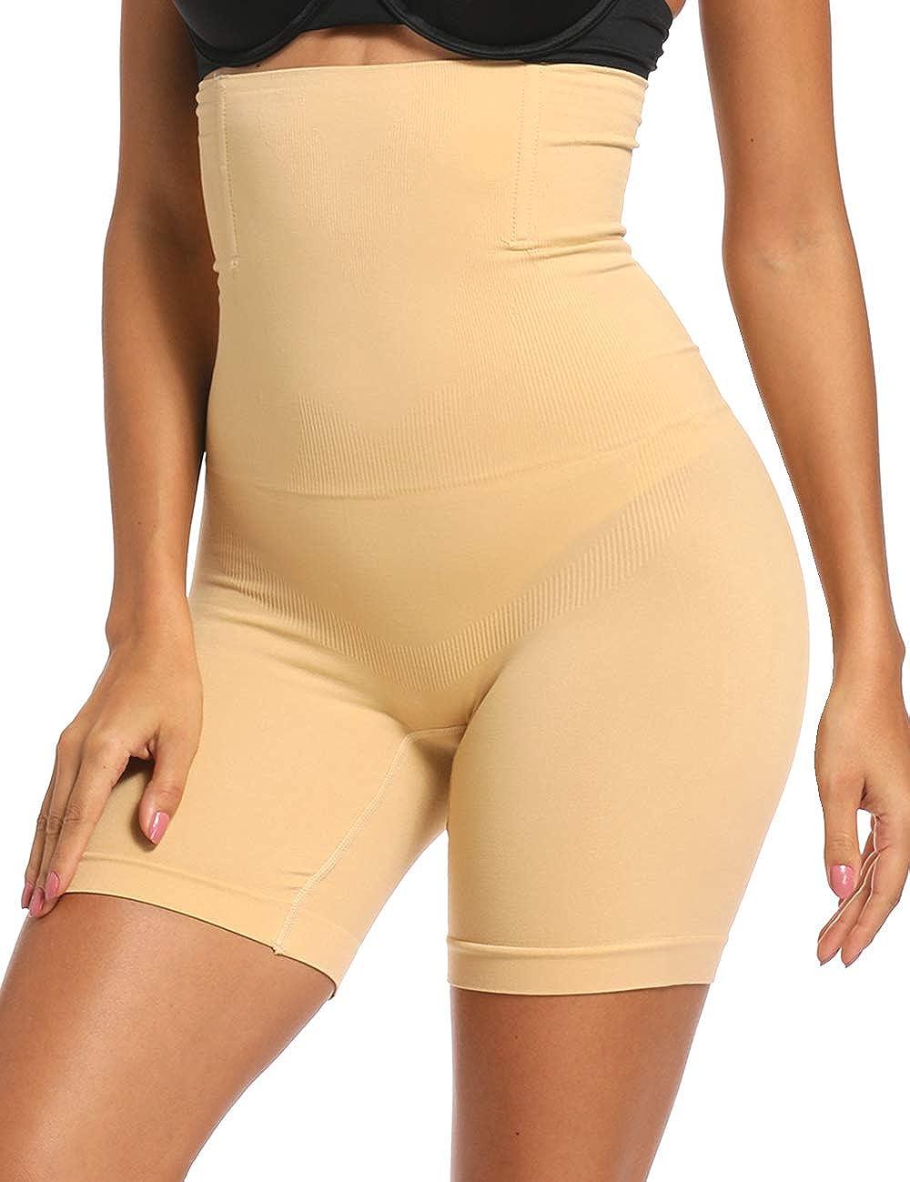 Women Waist Trainer Shapewear Shorts High Waisted Strapless Body Shaper Thigh Slimmer Panties Tummy Control Underwear