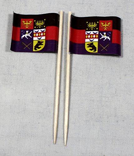 Buddel-Bini Party-Picker Flagge Ostfriesland Papierfähnchen in Profiqualität 50 Stück 8 cm Offsetdruck Riesenauswahl aus eigener Herstellung