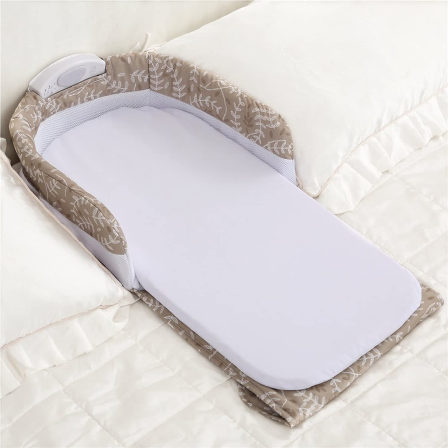 Aik@ Portable Foldable Cribs Co-sleeping,Cotton Travel bed Hypoallergenic Breathable Soft Suitable For 0-1 year Baby-B