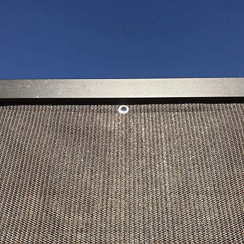 Filet d'ombrage Tissu Pare-soleil avec Oeillets, Marron Tissu Pare-soleil Bâche de Fabrication de Maille Résistante aux UV À 85% pour Extérieur/Plante/Arrière-cour, 100g / M² (Size : 1×1.8m)