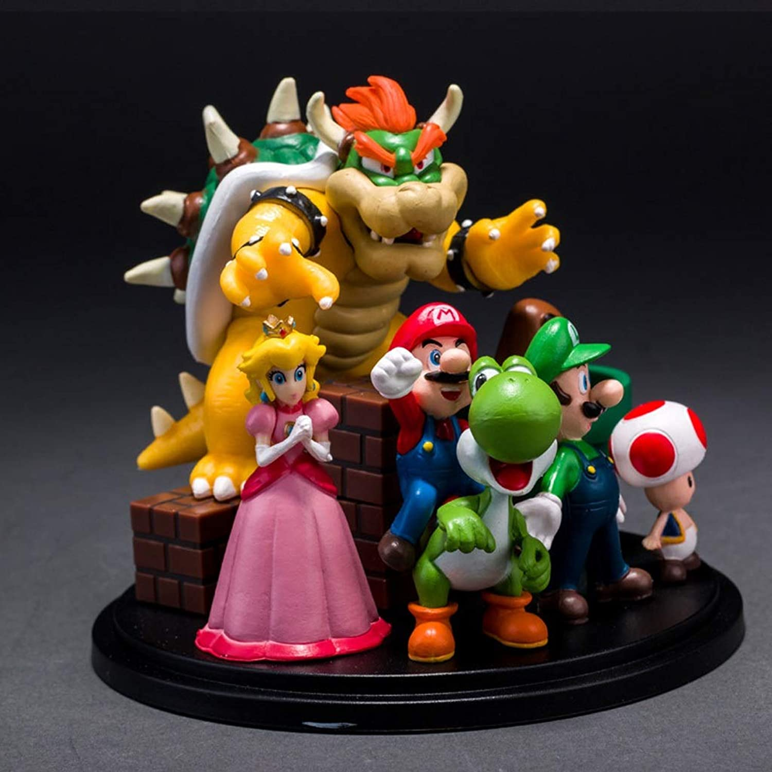 Zxwzzz Toy Statue Super Mario Toy Model Game Character Crafts Decorations Mario Bros Statue