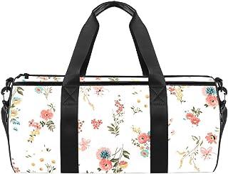 DJROWW Reisetasche aus Segeltuch mit Blumenmuster, Pink