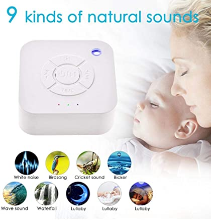 Classic White Noise Sound Machine USB Rechargeable Timed Shutdown Sleep Sound Machine for Baby Adults Sleeping & Relaxation