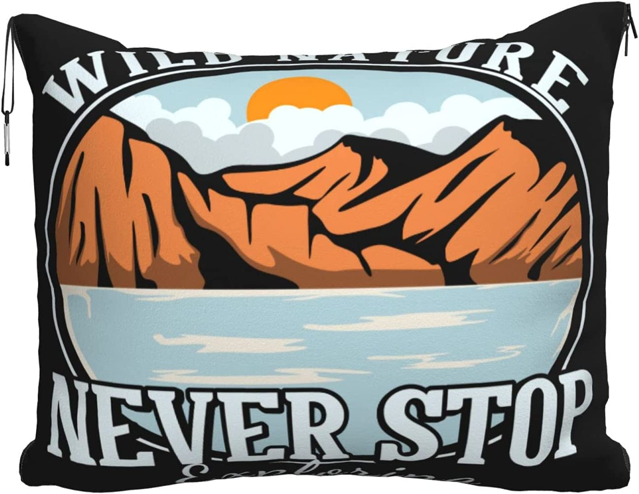 LOSOTIME Wild Nature Never Stop Travel Super Pillow Blanket Soft Max 46% Ranking TOP15 OFF