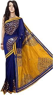 Designer Collection Indian Sari Mirror work Handloom Saree 115a