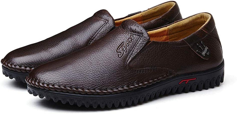 Dilunsizrf Chaussures en Cuir pour Hommes d'affaires Chaussures de Grande Taille Chaussures de Mode Chaussures pour Hommes polyvalentes,darkmarronsetfoot,42