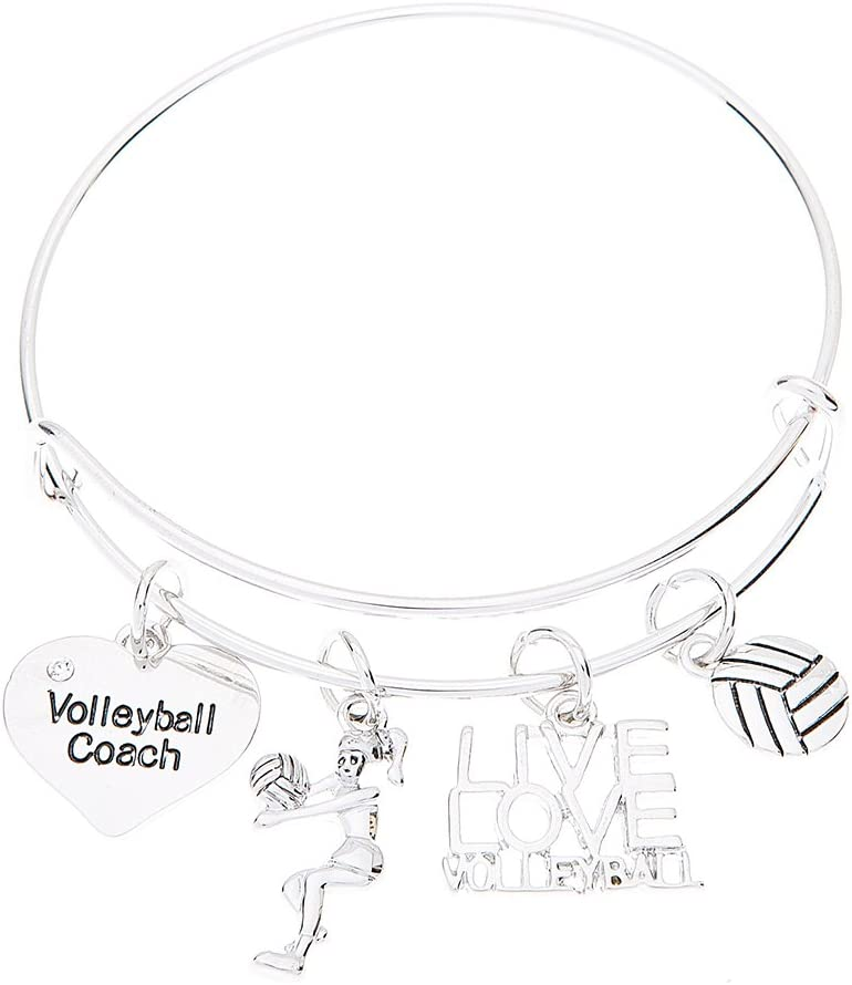 Infinity Collection Louisville-Jefferson County Super intense SALE Mall Volleyball Coach Bracelet Charm Voll Bangle