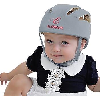 ESUPPORT Infant Baby Adjustable Safety Helmet Headguard Protective Harnesses Hat Star Grey