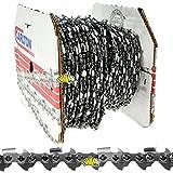 Cilli 9750120 Cadena K1L – Paso 325, 0,50 – 1,3 mm para motosierra – Rollo 30,5 ml 1848 Eslabones diente cuadrado, Gris