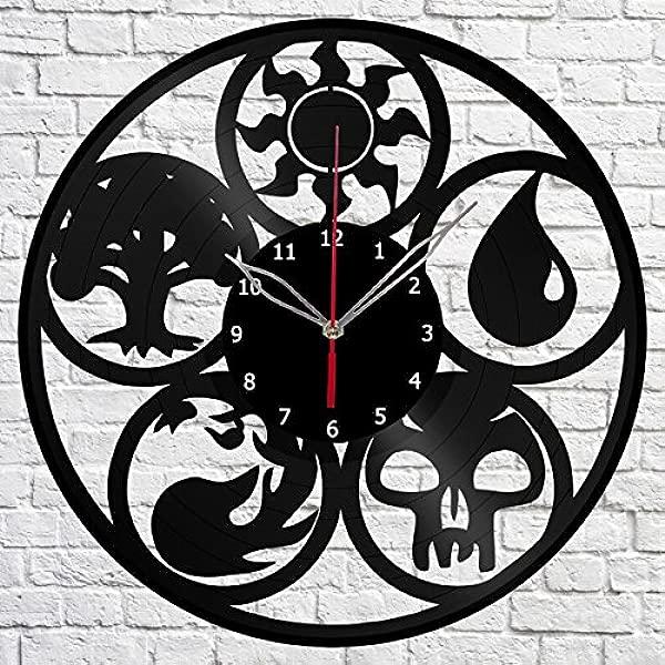Handmade Magic The Gathering Vinyl Record Wall Clock Fan Art Decor Original Gift Unique Decorative Vinyl Clock 12 30 Cm
