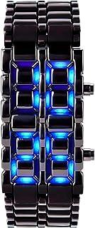 Relojes De Alfa - Reloj Con Iluminación Led Tipo Laser Azul