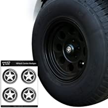 Graphics and More Oscar Mike On Mission Move Vintage Military Star Tire Wheel Center Cap Resin-Topped Badges Stickers - 2.2