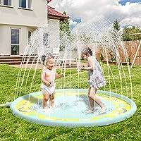 """Tappetino per sprinkler da 68 """"di dimensioni super diametro - Tema dell'unicorno - è un successo per la tua estate - porta felicità senza fine. Tecnologia di riempimento dell'acqua della parte centrale originale, utilizzata per ottenere il miglior ef..."""