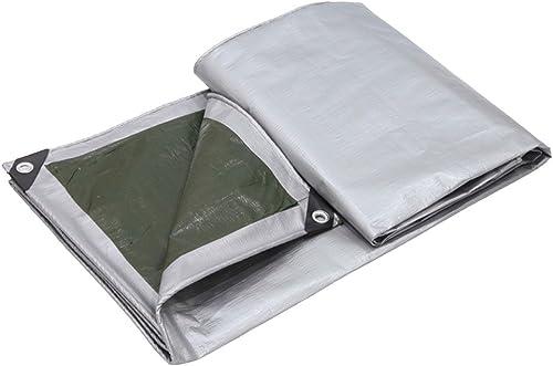 AJZGF Tissu imperméable à l'eau imperméable Bache Anti-Pluie bache de Prougeection Solaire Pare-Soleil en Plein air Anti-poussière Coupe-Vent Haute température Anti-vieillissement, gris + Vert