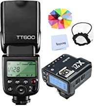 Godox TT600 HSS 1/8000S 2.4G Wireless GN60 Flash Speedlite Built in Godox X System Receiver with X2T-N Trigger Transmitter Compatible Nikon Camera