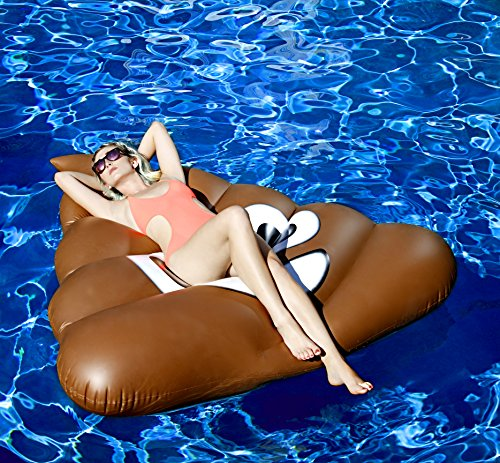 Original Giant Poop Emoji Pool Floats for Adults and Kids - Swimming Inflatable Float as Adult Swim Toys