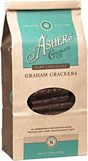 Asher's Chocolate Company, Chocolate Covered Graham Crackers, Made From the Finest Kosher Chocolate, Small Batches, Family Owned Since 1892 (7.15 oz, Dark Chocolate)