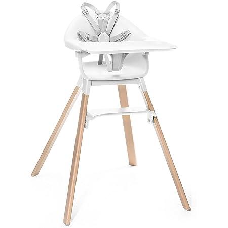 Holz: Buche Sitz: Wei/ß Der wandelbare Stuhl der mit Ihrem Baby mitw/ächst Stokke Steps Stuhl Farbe: Natural