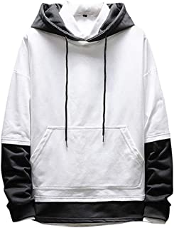 Elogoog Fashion Hoodie for Men Sweatshirt Slim Fit Long Sleeve Hoodies Pullover Hooded Outwear