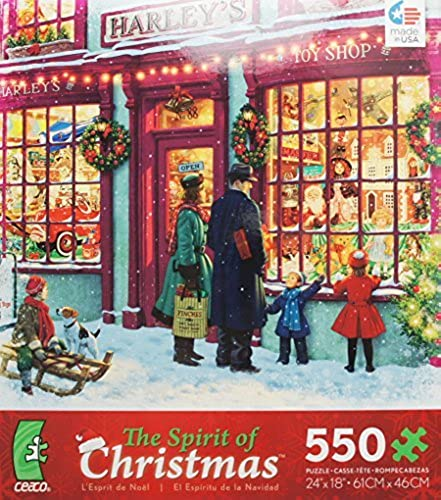 ceaco The Spirit of Christmas Puzzle TOY SHOP 550 Piece Puzzle MADE IN USA by Holiday Puzzle