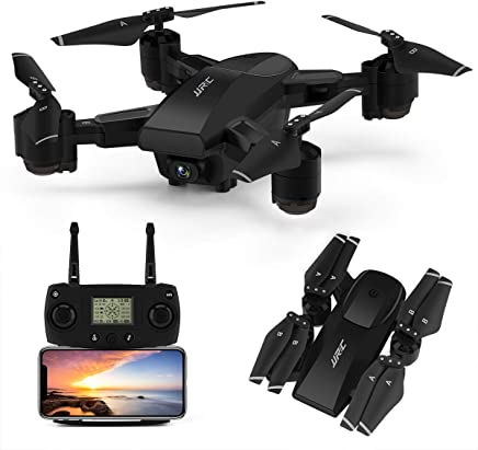 $179 Get GPS Drone,JJRC H78G 5G WiFi FPV Foldable Drone with 1080P Camera Live Video,Follow me,Altitude Hold,Smart Return to Home Folding Drone for Adults (Black)