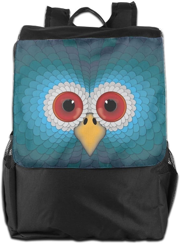 bluee Owl Printed Girls Backpack Lightweight Casual Shoulder Bag Boys School Bag Bookbags Daypacks Black for Women and Men