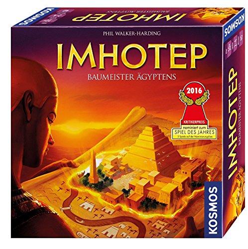KOSMOS 692384 - Imhotep - Baumeister Ägyptens, das Grundspiel, Strategiespiel mit viel Interaktion und Spieltiefe, Brettspiel für 2 bis 4 Spieler, nominiert zum Spiel des Jahres 2016