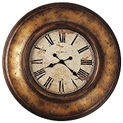 """Howard Miller Copper Bay Wall Clock 625-540 – 29.5"""" Oversized Significant Metal Case with Quartz Movement"""