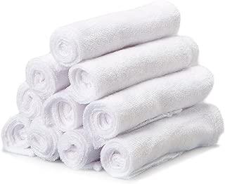 SpaSilk Washcloths, White,10-Count