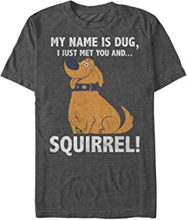 Fifth Sun Up Men's My Name is Dug Squirrel T-Shirt