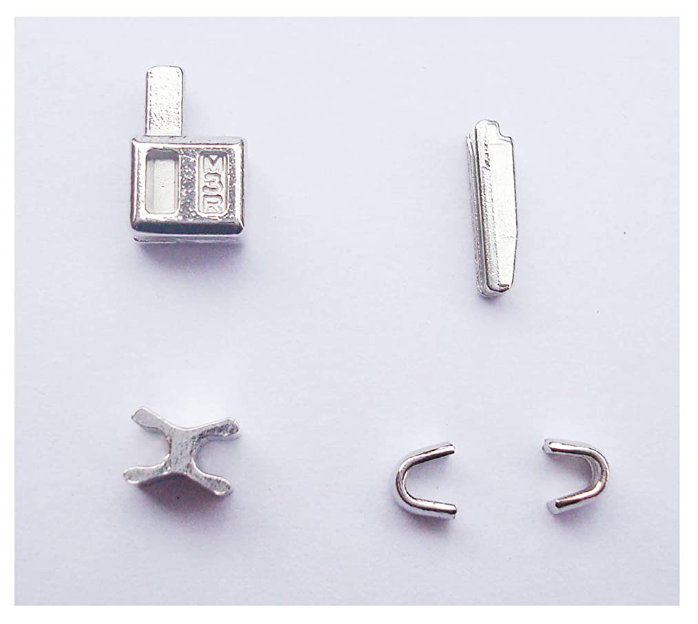 2 sets silver #3 metal zipper head box zipper Pull Replacements zipper sliders retainer insertion pin easy for zipper repair kit(#3)