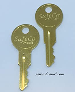 SafeCo Brands Delta and DeeZee Tractor Supply Tool Box Keys EC801-EC810 2-Keys (EC802)
