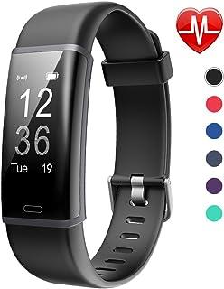 comprar comparacion Lintelek Fitness Tracker, Pulsera de Actividad Personalizada Color con Monitor de Ritmo Cardíaco, 14 Modos de Deporte Smar...