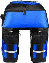 Lixada Alforjas multifunción para bicicleta con protección contra la lluvia, 3 en 1, resistente a desgarros, 70 l, grandes bolsas para el asiento trasero