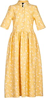 Yumster Girl Flower Print Dress, Casual Holiday Dress for Girls 4-16 Years
