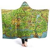 maichengxuan Stardew Valley Map - Manta suave con capucha (127 cm x 40 cm)