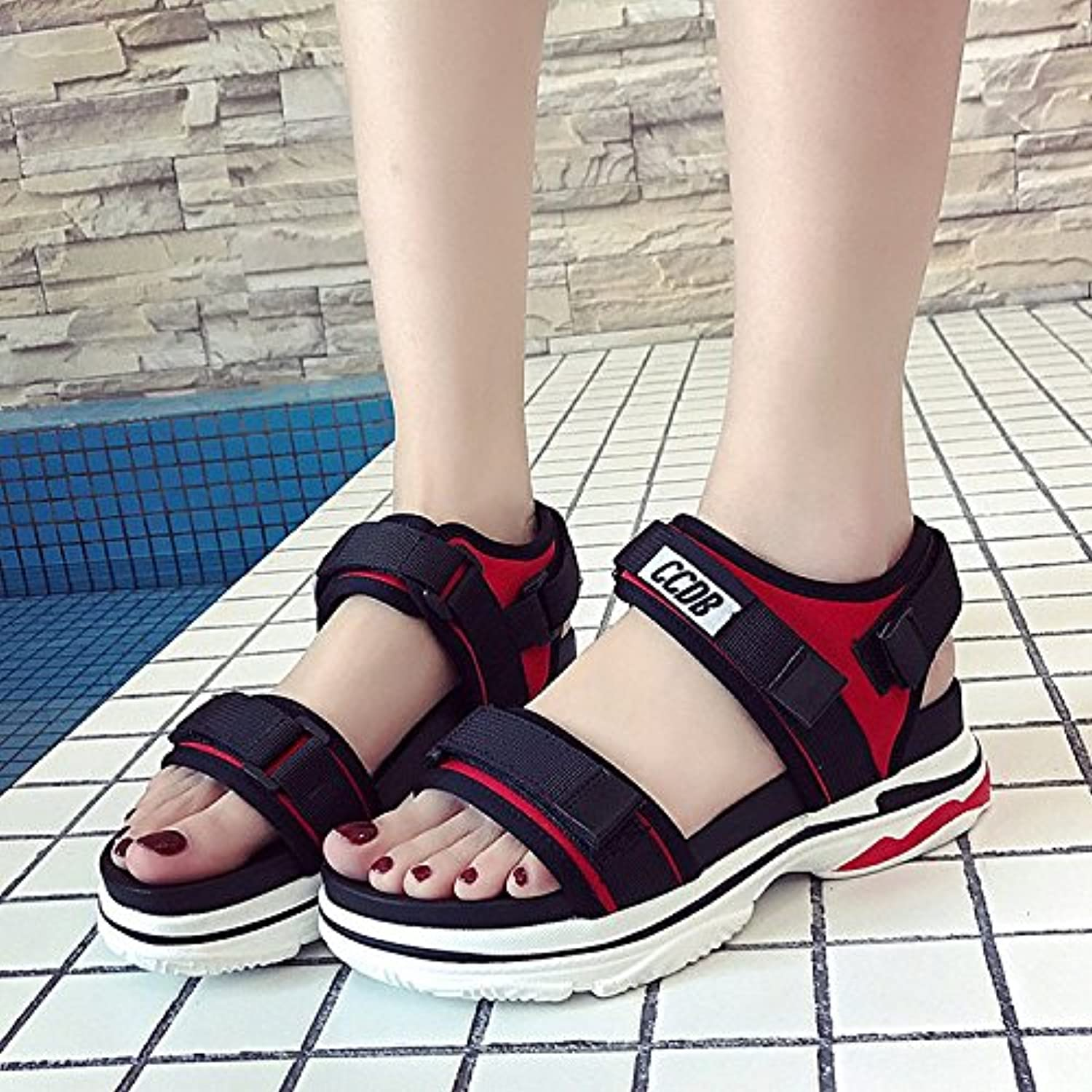GAOLIM The Girl Summer Sandals Women shoes Flat Women'S shoes Beach shoes Women shoes Sports Men And Women Couple, shoes-Laces.