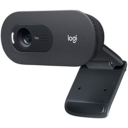Logitech C505 HD Webcam - 720p HD External USB Camera for Desktop or Laptop with Long-Range Microphone, Compatible with PC or Mac