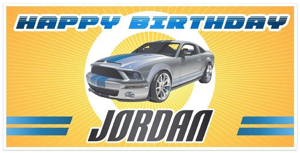 Silver Popular Mustang Ranking TOP7 Birthday Banner