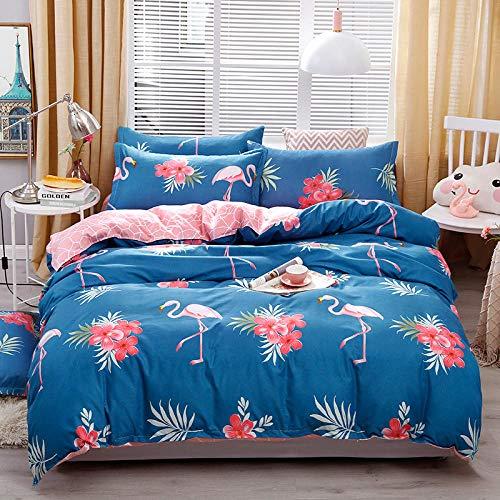 Meesovs® Sängklädesset tecknat djur flamingo 3D-tryckta påslakan 2 örngott 50 x 75 cm täcke sängkläder set med dragkedja 100 % mikrofiber singelsäng 135 x 200 cm jul flicka påslakan